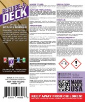 Restore-A-Deck Wood Stain Stripper Instructions